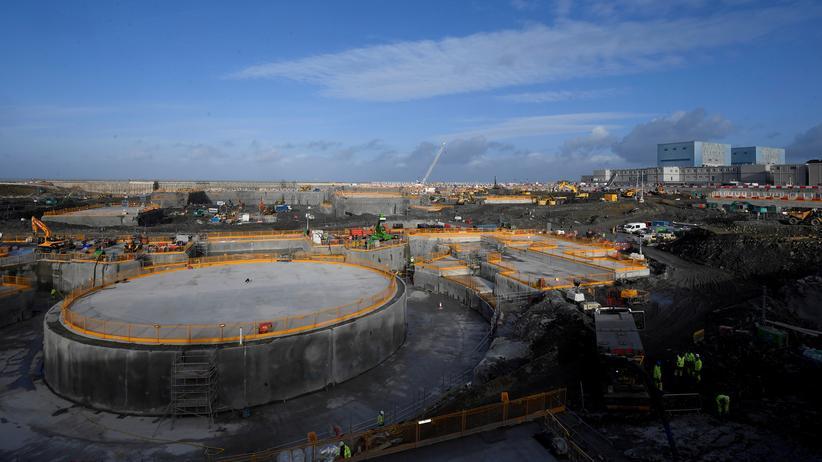 Europäischer Gerichtshof: Bereits im Bau: das AKW  Hinkley Point C nahe Cannington in Südwest-England