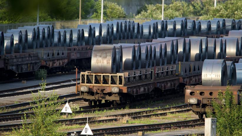 Handelsstreit mit den USA: Die Auftragslage in der Industrie hat sich verschlechtert. Vom Handelsstreit mit den USA ist besonders Stahl betroffen.