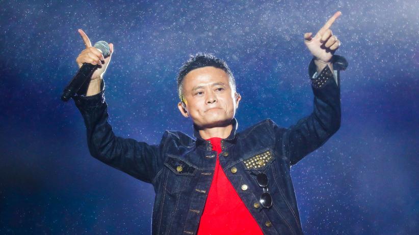 Alibaba: Oft unkonventionell: Jack Ma, Gründer des Onlinekonzerns Alibaba, während einer Computerkonferenz in Hangzhou