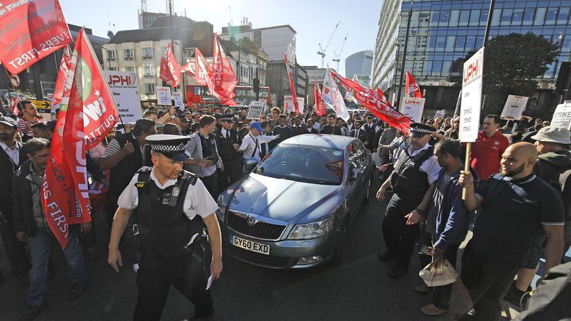 Großbritannien: Kundgebung der Uber-Fahrer in London