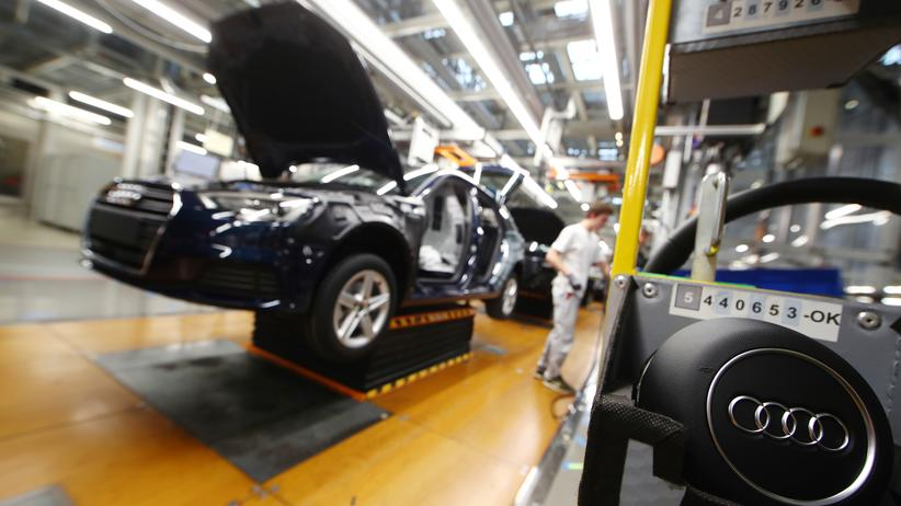 Abgasskandal: Ein Audi wird im Werk des Autoherstellers in Ingolstadt zusammengesetzt.