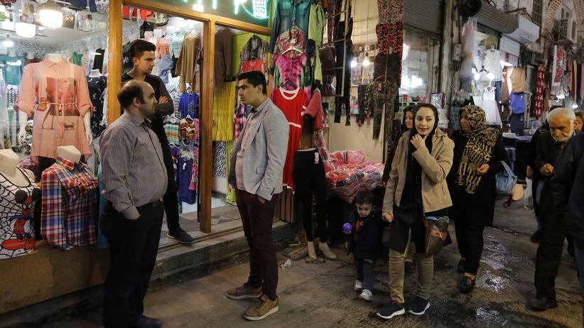 Hermesbürschaft: Ein Basar in der Stadt Täbris im Nordwesten Irans