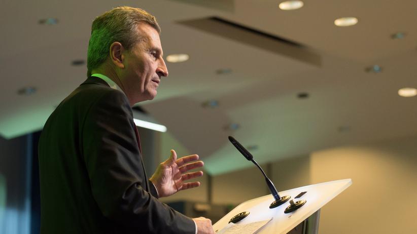 Brexit: Oettinger warnt vor hohen Kosten durch ungeordneten EU-Austritt