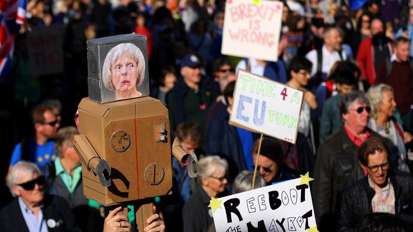 Brexit: Im Oktober protestierten Hunderttausende in London gegen den Brexit.