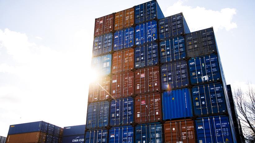 Konjunktur: Container im Hamburger Hafen