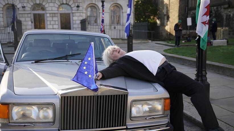 Brexit: Will er den Crash mit der EU? Ein Double des Brexit-Hardliners Boris Johnson