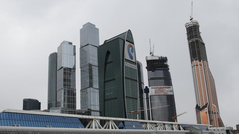 Datenleak: Blick auf ein Moskauer Geschäftsviertel