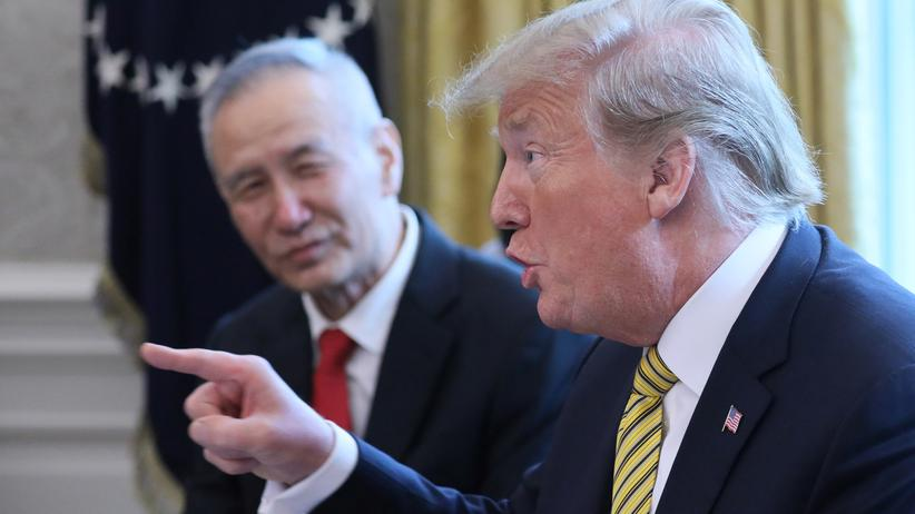 Handelskonflikt: US-Präsident Donald Trump verhandelt Anfang April mit dem chinesischen Vize-Premier Liu He.