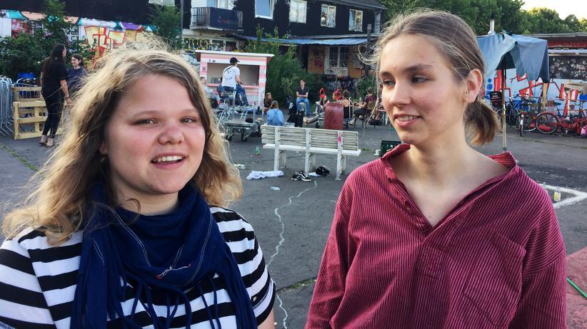 Fridays for Future: Jana Boltersdorf (links) und Pauline Brünger von der Kölner Gruppe von Fridays for Future