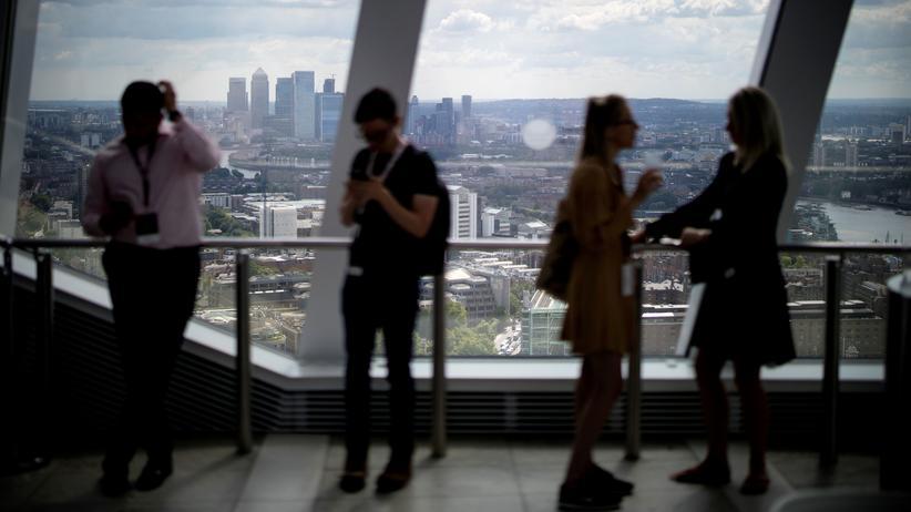 EU-Austritt: Ein Blick über Londons Financial District