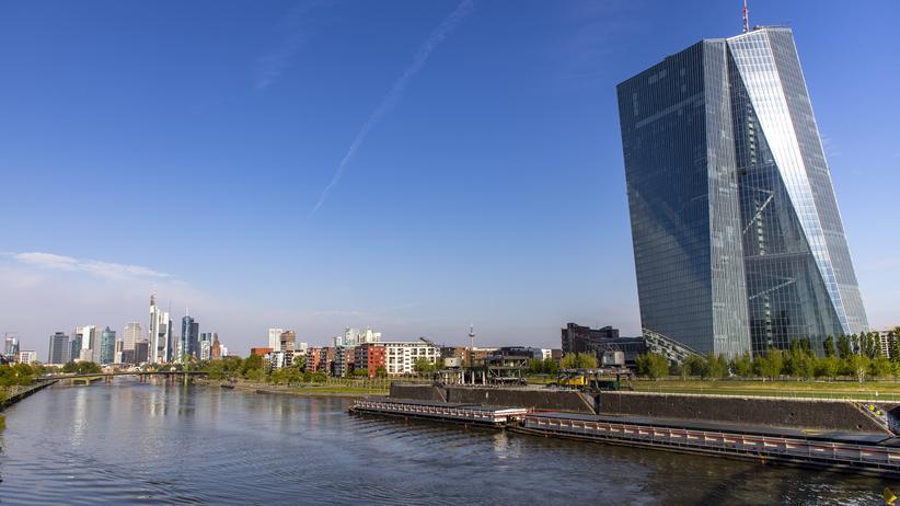 EZB: Der Sitz der Europäische Zentralbank in Frankfurt am Main