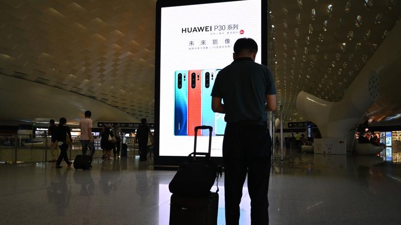 Handelskonflikt: Am Flughafen in Shenzhen