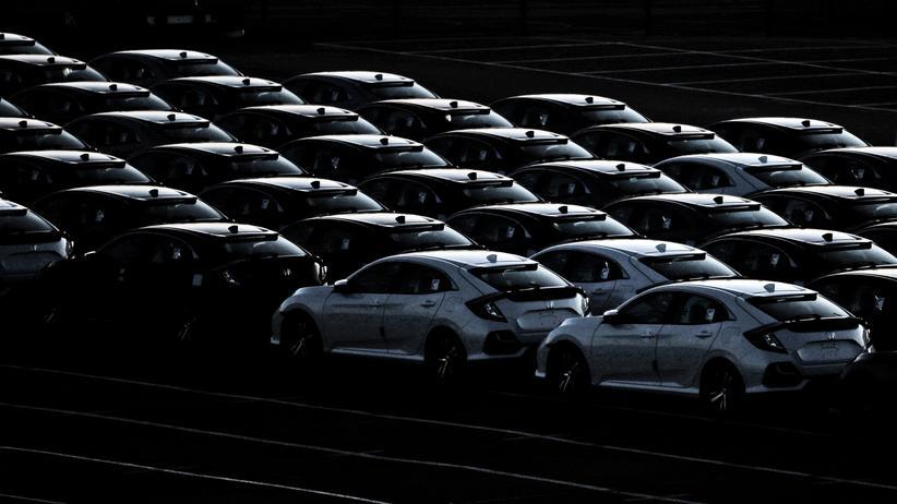 Großbritannien: Diese britischen Hondas am Hafen in Southampton wären nach einem ungeregelten Brexit deutlich teurer als bisher.