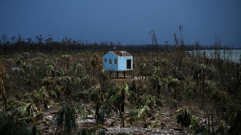 Studie: Ein zerstörtes Haus nach dem Hurrikan Dorian auf den Bahamas.