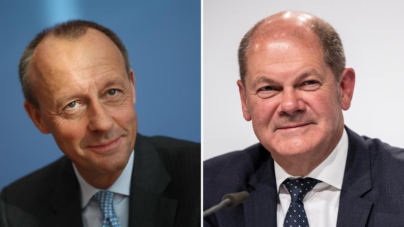 Große Koalition: Nach einer Umfrage plädiert eine Mehrheit der Wirtschaftselite für Kanzlerkandidaturen von Friedrich Merz (CDU) und Olaf Scholz (SPD).