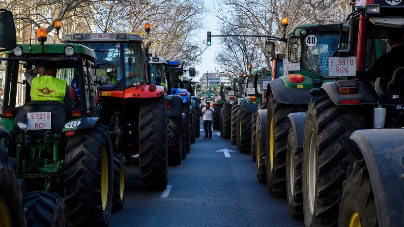 Landwirtschaft: Bauerndemo in Valencia