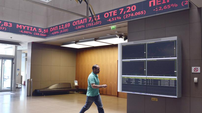 Athen Börse Kurseinbrüche