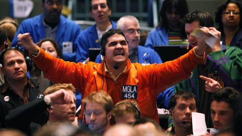 Börsenhändler in Chicago