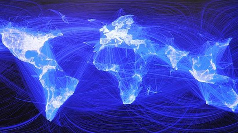 Eine Weltkarte, zu sehen auf Facebook, macht die Verbindungen innerhalb des sozialen Netzwerkes sichtbar
