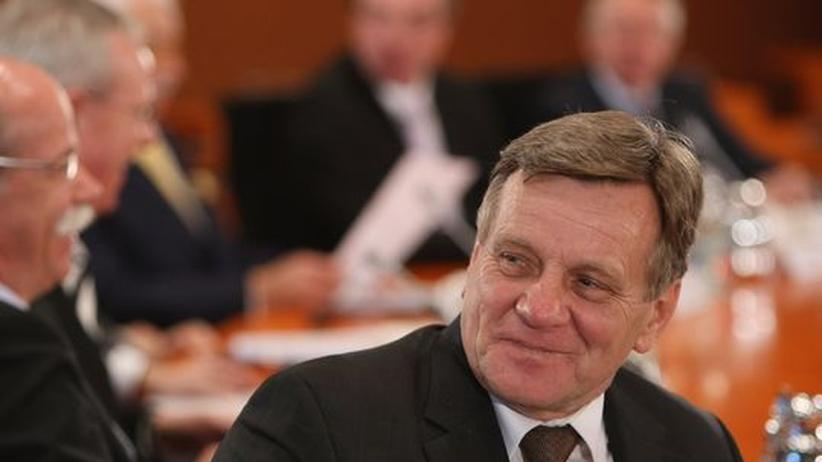 Hartmut Mehdorn kurz vor seinem Rücktritt als Bahn-Chef, im vergangenen März