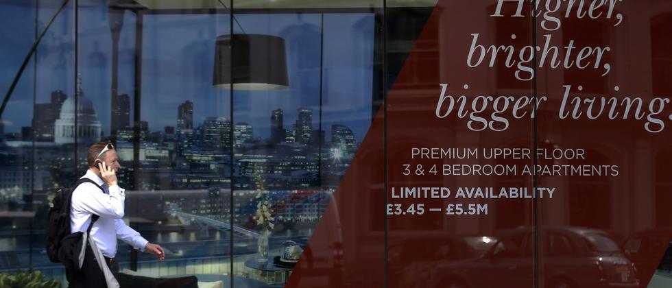 Neue Immobilien in London: Die Hauspreise sind im Vergleich zum Vorjahr um 26 Prozent gestiegen.