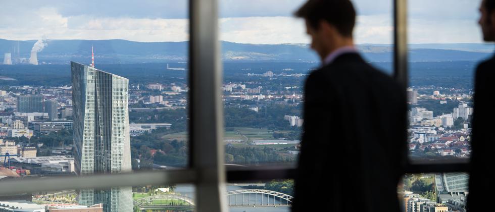 Die Zentrale der EZB in Frankfurt am Main
