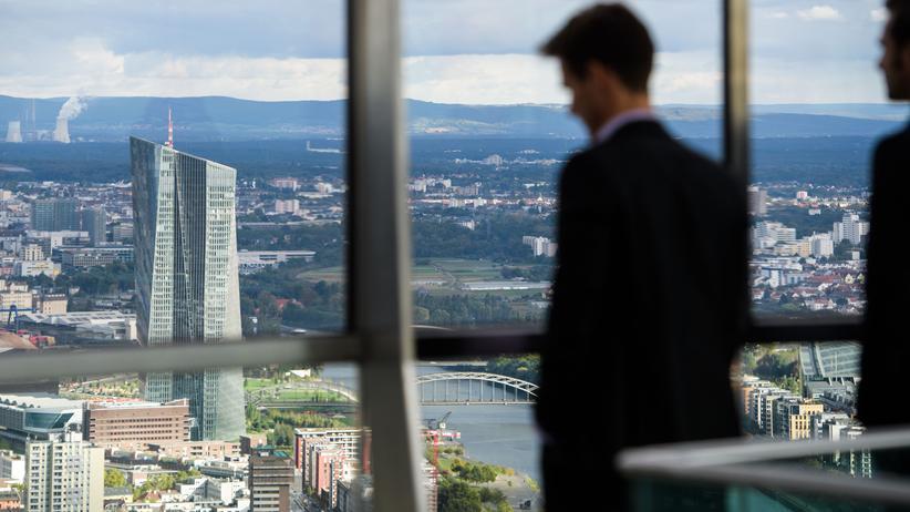 Europäische Zentralbank: Die Zentrale der EZB in Frankfurt am Main