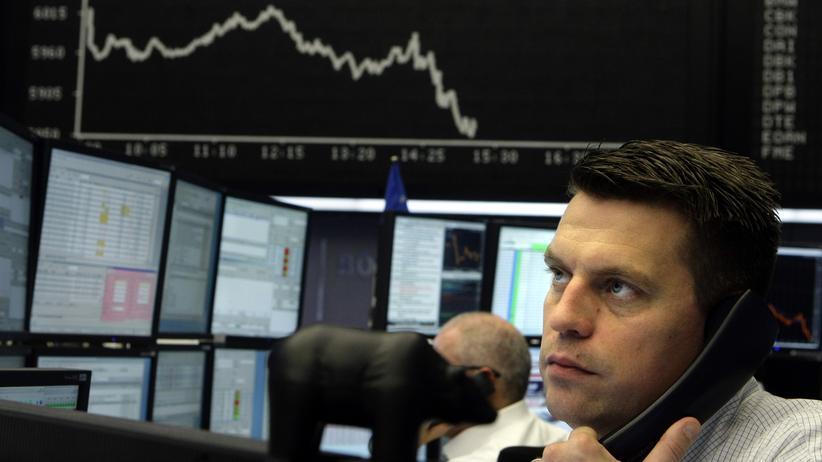 Wertpapiere: Händler an der Frankfurter Börse