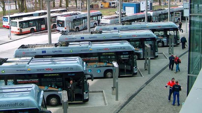 Busverkehr: Busse am ZOB Hamburg