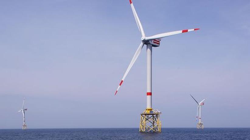 PR-Kampagne: In der Nordsee ging vor einigen Monaten Deutschlands erster Offshore-Windpark Alpha Ventus ans Netz