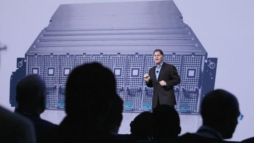 Michael Dell spricht am 22. September 2010 auf der Oracle Open World Konferenz in San Francisco