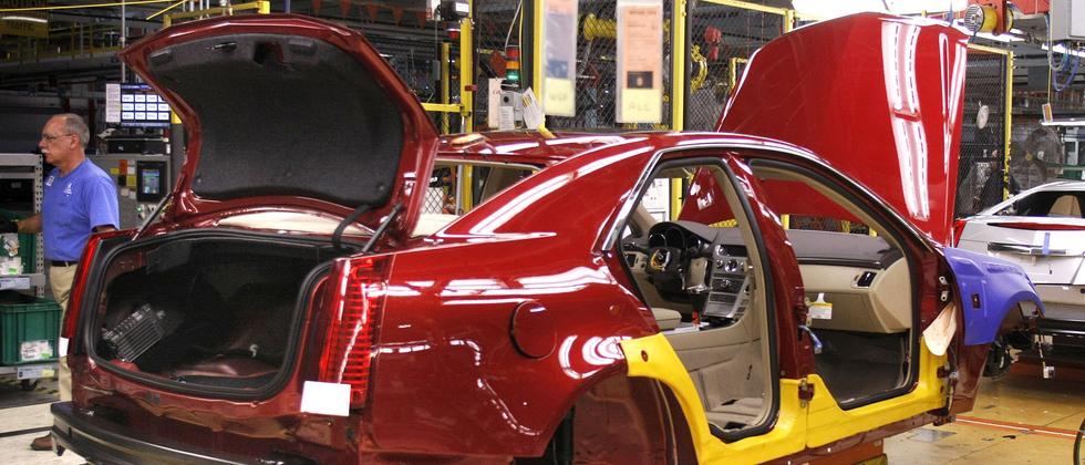 Ein halb fertiges GM-Fahrzeug: Der Automobilkonzern will zurück an die Börse