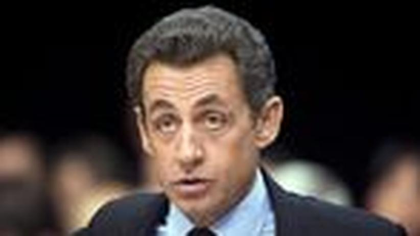 Frankreich: Sarkozy, im Ankündigen ganz groß