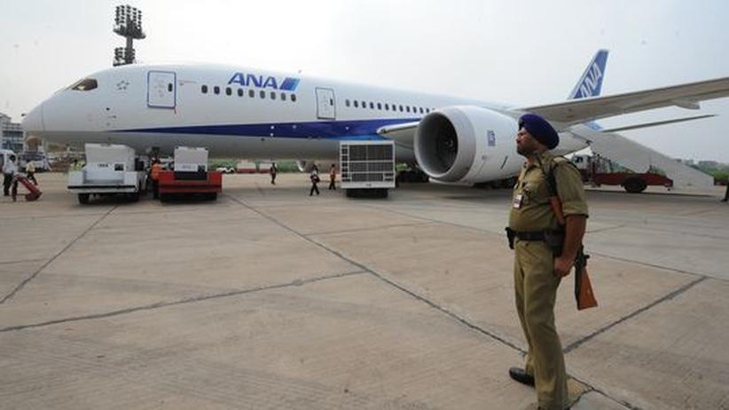 Missmanagement: Ein Dreamliner von Boeing auf dem Flughafen von Delhi