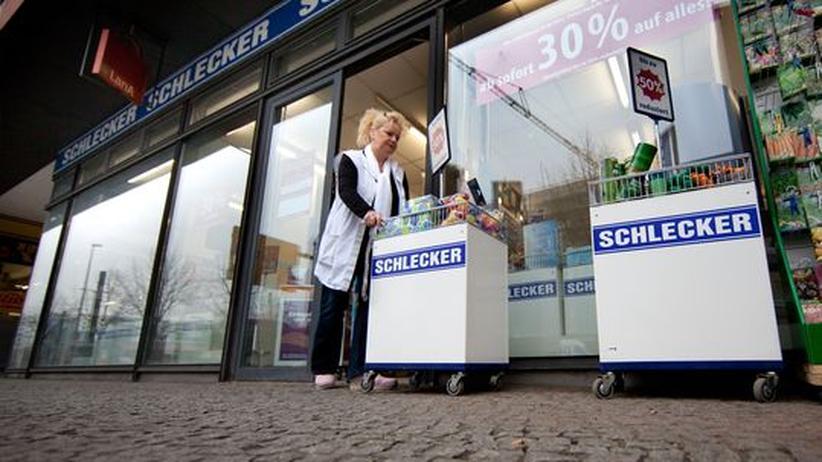 Eine Schlecker-Mitarbeiterin in Berlin