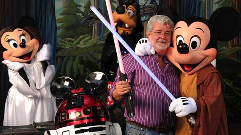 George Lucas in den Disney Hollywood Studios in Lake Buena Vista, Florida (Archiv)