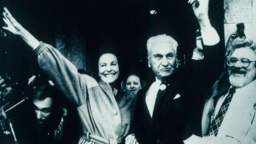 Thomas Bata: Sonja und Thomas Bata in Zlín 1989