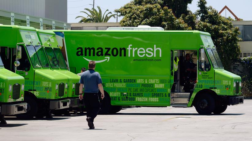 Wirtschaft, Amazon Fresh, Supermärkte, Amazon, Internet, Onlinedienst, Lebensmittel, Discounter