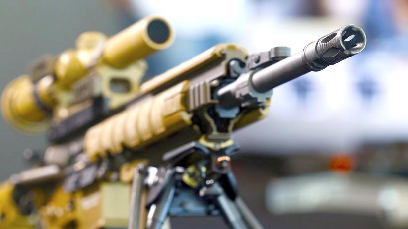 Heckler & Koch: Ein Gewehr des Kriegsgüterkonzerns Heckler & Koch vom Typ A HK417