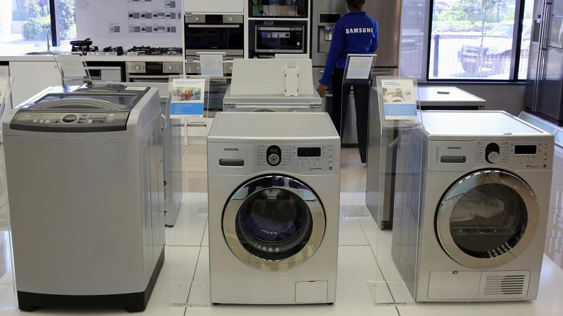 Samsung: Waschmaschine der Marke Samsung in einem Elektrofachgeschäft in Johannesburg