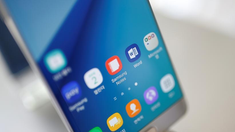 Vorsicht beim Laden: Das Galaxy Note 7 von Samsung kann explodieren.