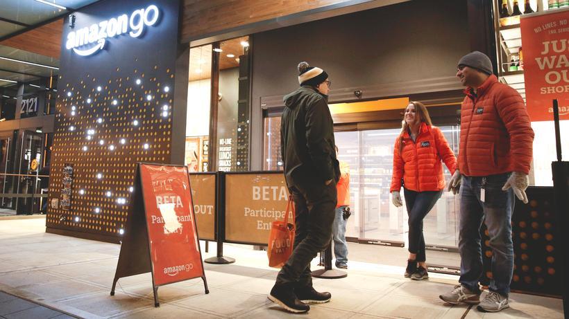 Amazon Go: Amazon-Mitarbeiter können bereits im neuen Supermarkt in Seattle einkaufen.