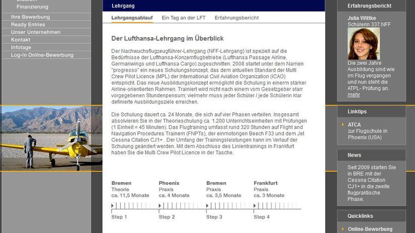 pilotenausbildung die lufthansa lsst pilotentrume platzen zeit online - Bewerbung Lufthansa