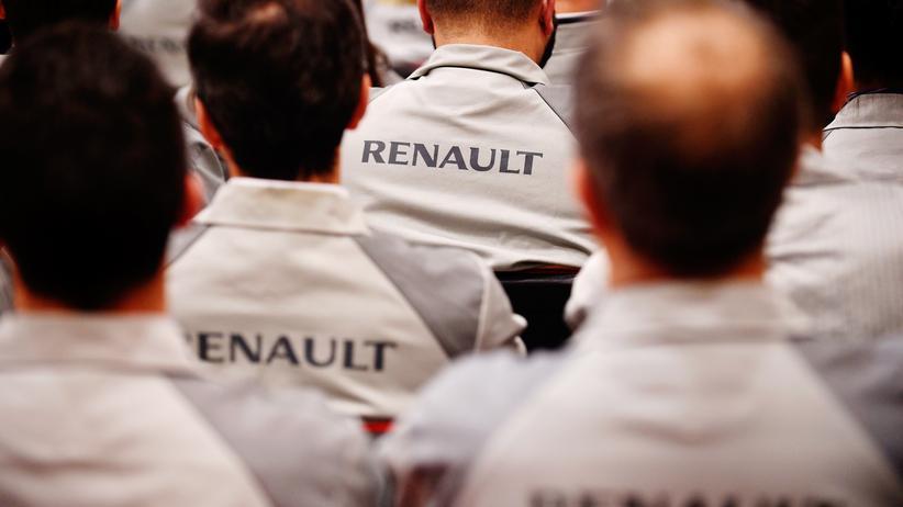 Diesel-Autos: Arbeiter bei Renault