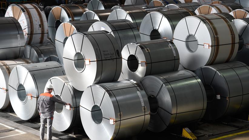 USA: Stahlrollen im Werk der Salzgitter AG im niedersächsischen Salzgitter