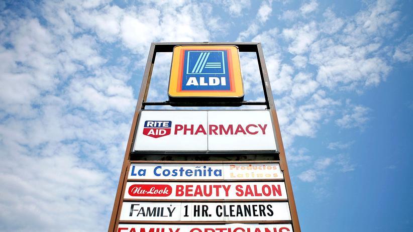 Discounter: Schild einer Aldi-Filiale in Virginia