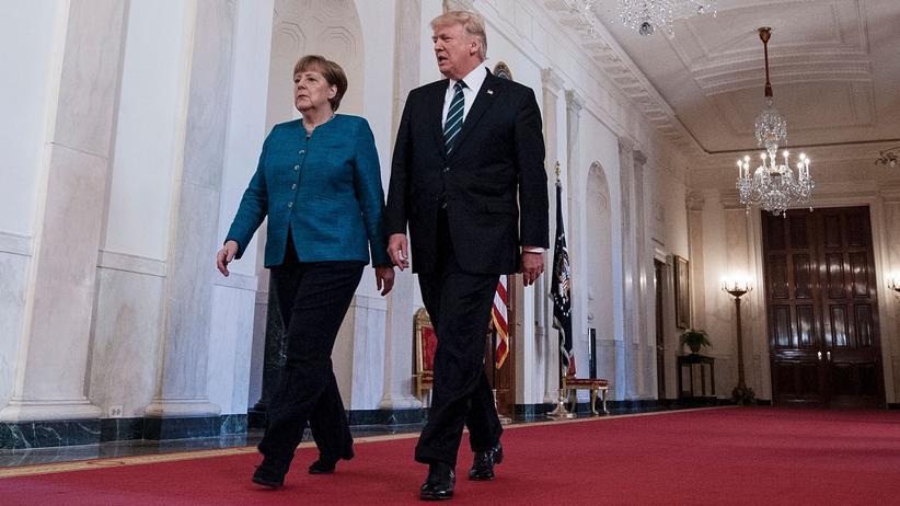 Freihandelsabkommen: Bundeskanzlerin Angela Merkel und US-Präsident Donald Trump im Weißen Haus