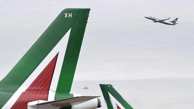 Fluglinie: Ryanair strebt eine Mehrheit an der italienischen Fluggesellschaft Alitalia an.