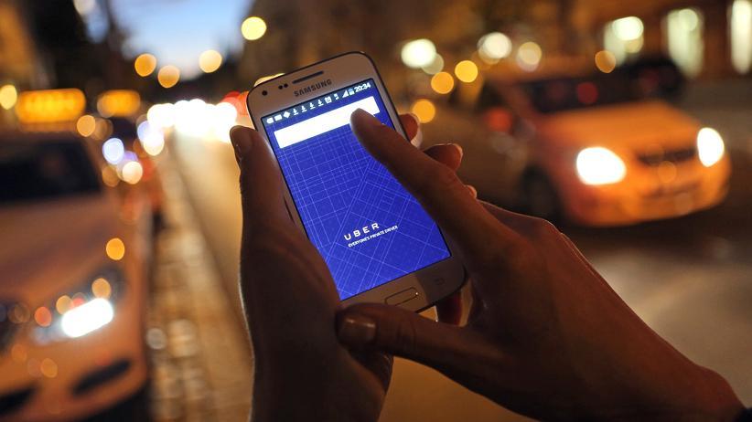 Uber app Fahrdienst Taxi