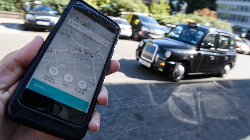 Fahrdienst: Die Taxi-App Uber hat in London 3,5 Millionen registrierte Kunden